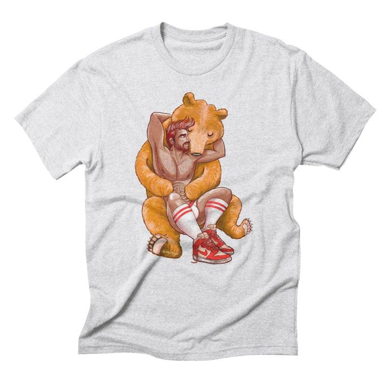 BearHug Men's Triblend T-Shirt by roagui's Artist Shop