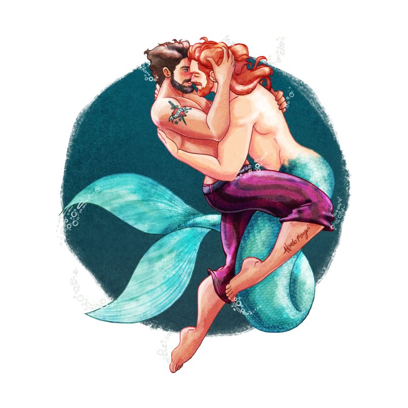 Sailor & Merman by Roagui's Artist Shop