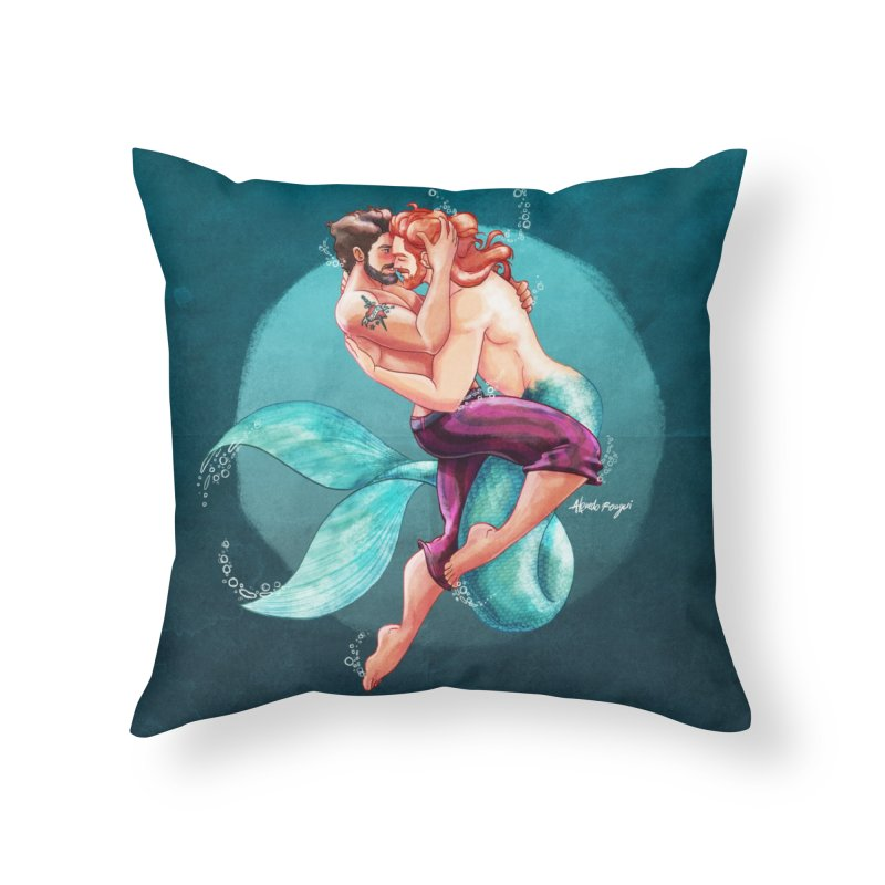 Sailor & Merman Home Throw Pillow by Alfredo Roagui