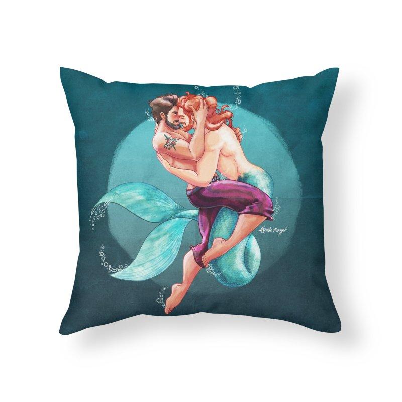Sailor & Merman Home Throw Pillow by Alfredo Roagui