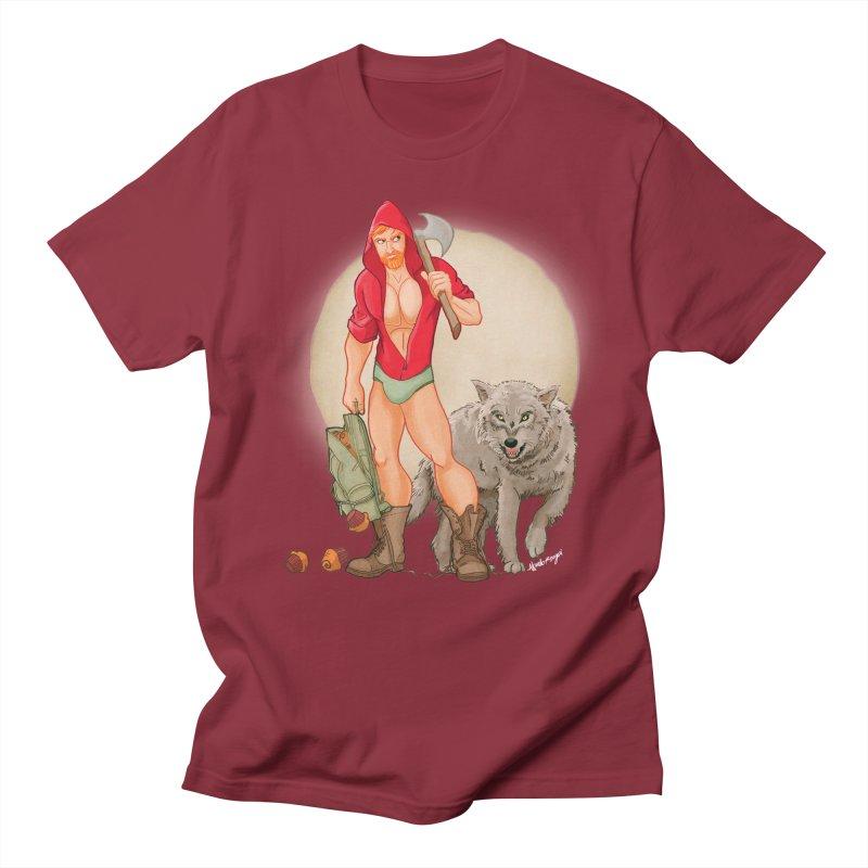Red Riding Hood Men's Regular T-Shirt by Roagui's Artist Shop