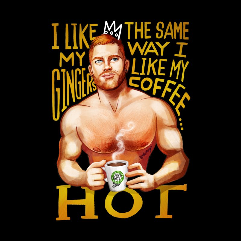 Hot Ginger Men's Longsleeve T-Shirt by Alfredo Roagui