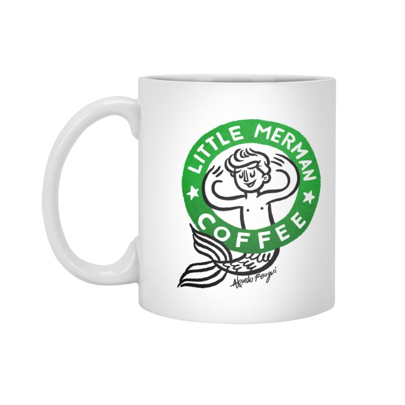 Little Merman Accessories Standard Mug by Alfredo Roagui