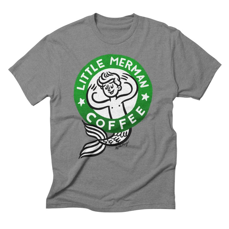 Little Merman Men's T-Shirt by Alfredo Roagui