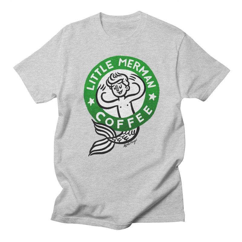 Little Merman Men's Regular T-Shirt by Roagui's Artist Shop