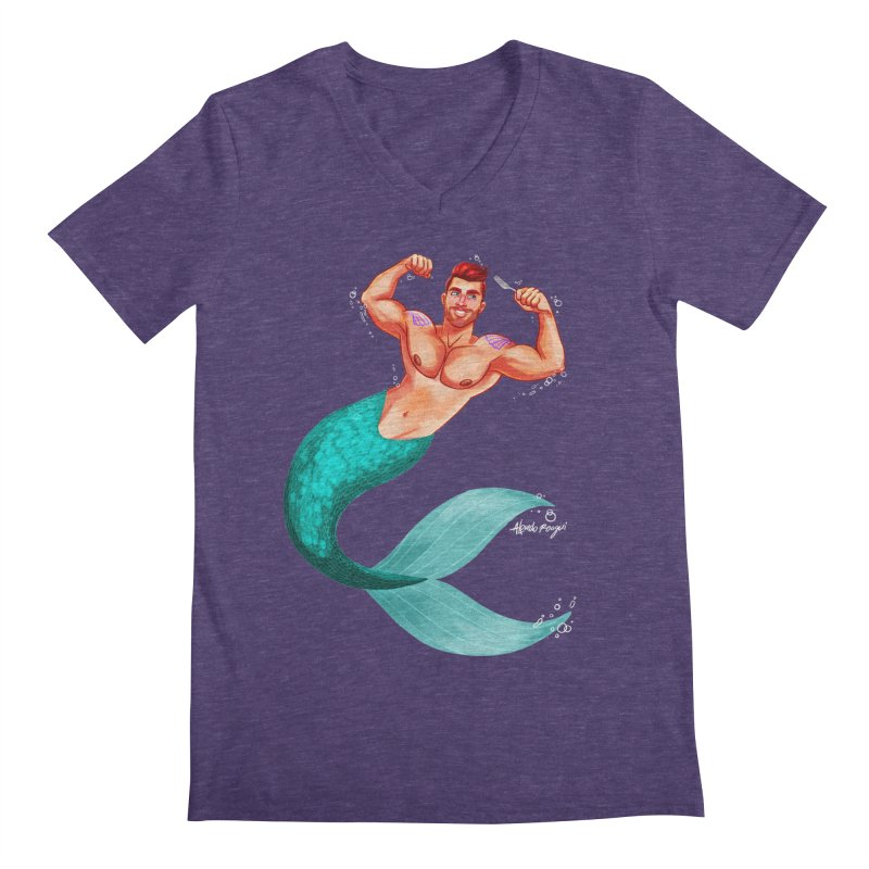 Ariel Men's V-Neck by Alfredo Roagui