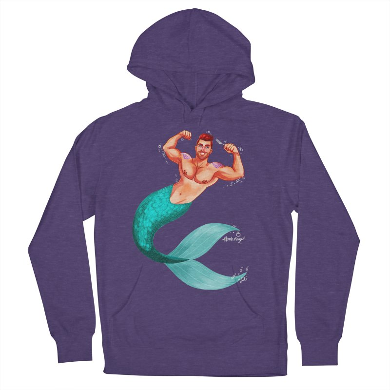 Ariel Men's French Terry Pullover Hoody by Alfredo Roagui