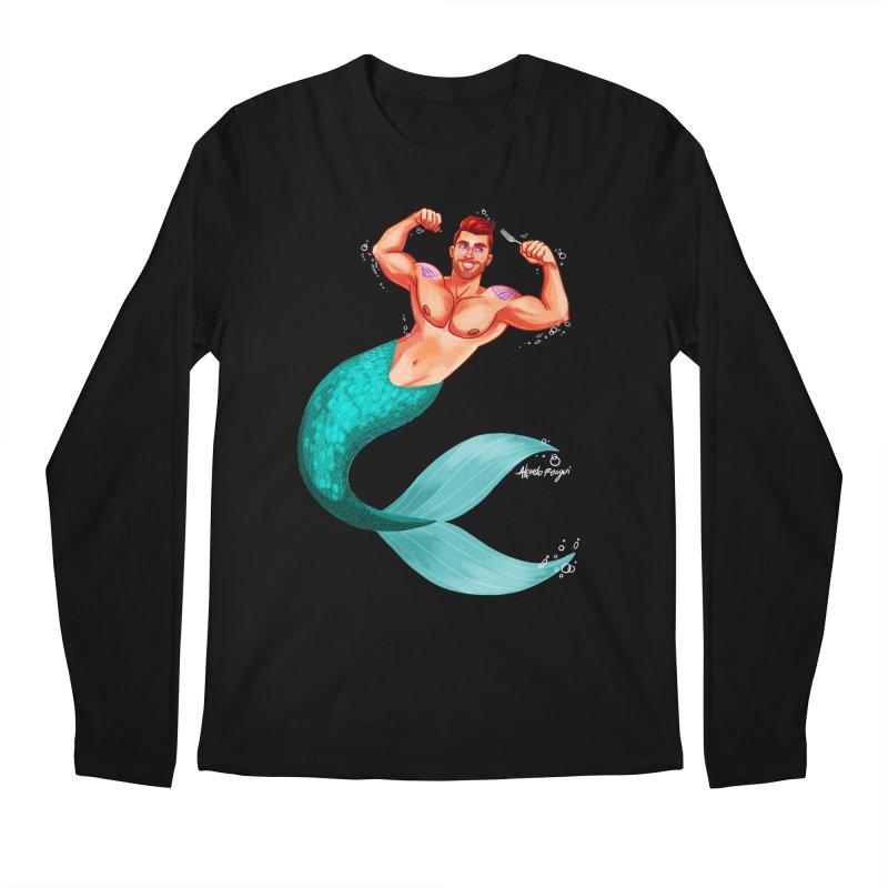 Ariel Men's Longsleeve T-Shirt by Alfredo Roagui