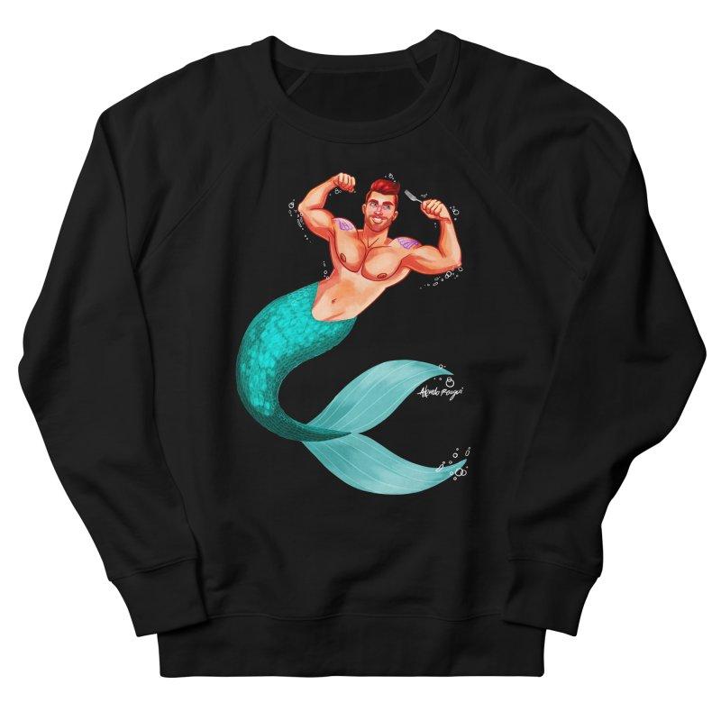 Ariel Men's French Terry Sweatshirt by Roagui's Artist Shop