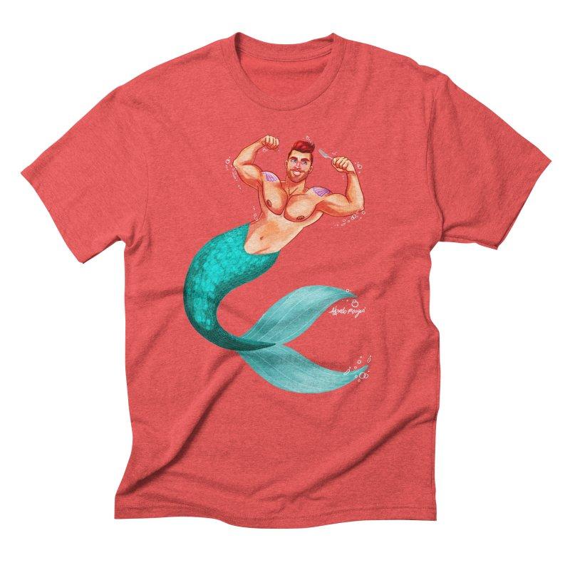 Ariel Men's Triblend T-Shirt by Alfredo Roagui