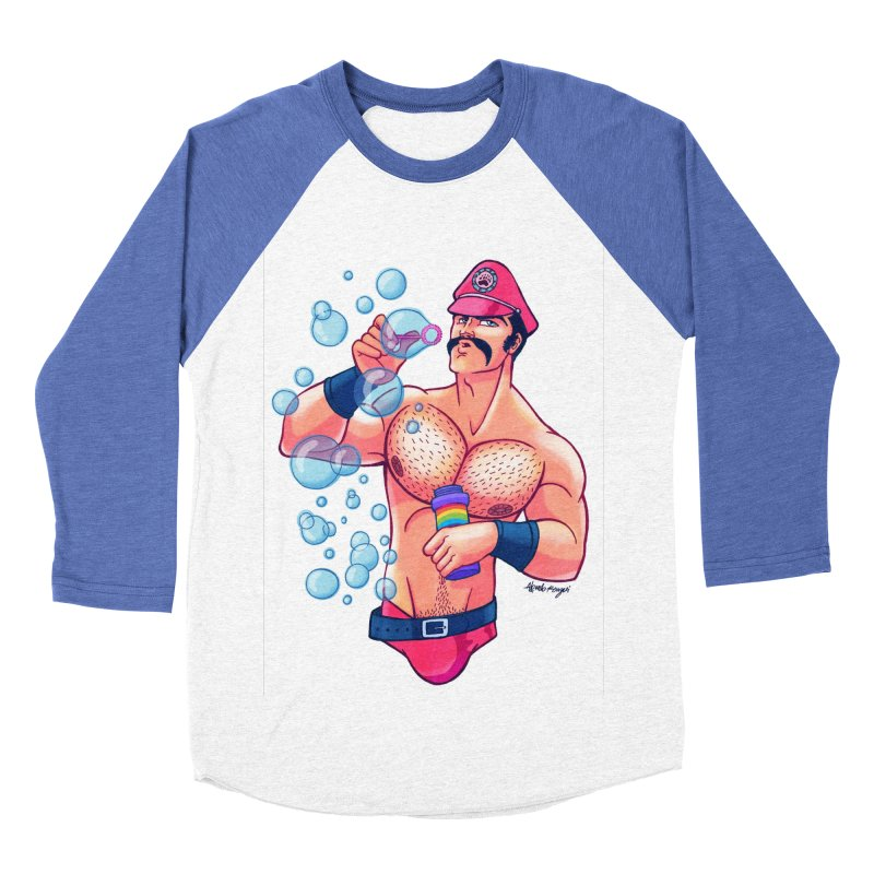 Bubbles Men's Baseball Triblend T-Shirt by Roagui's Artist Shop