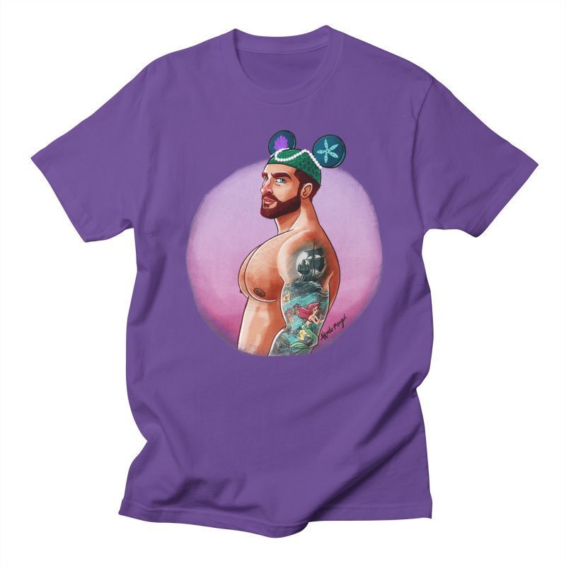 Little Mermaid Fan Men's T-Shirt by Alfredo Roagui