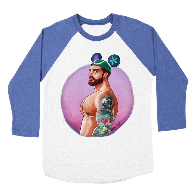 Little Mermaid Fan Men's Baseball Triblend Longsleeve T-Shirt by Roagui's Artist Shop
