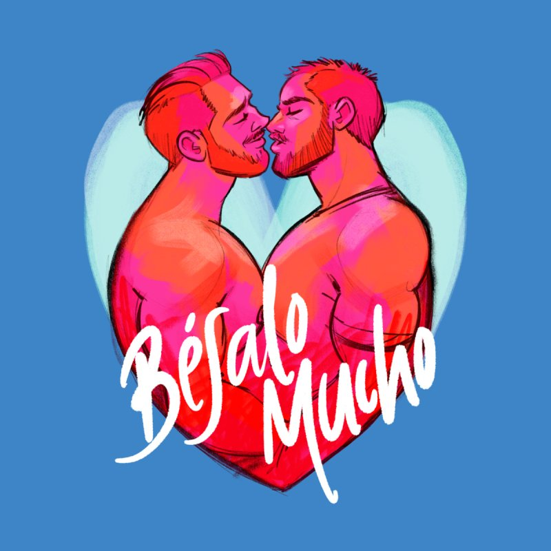 Besalo Mucho Men's T-Shirt by Alfredo Roagui