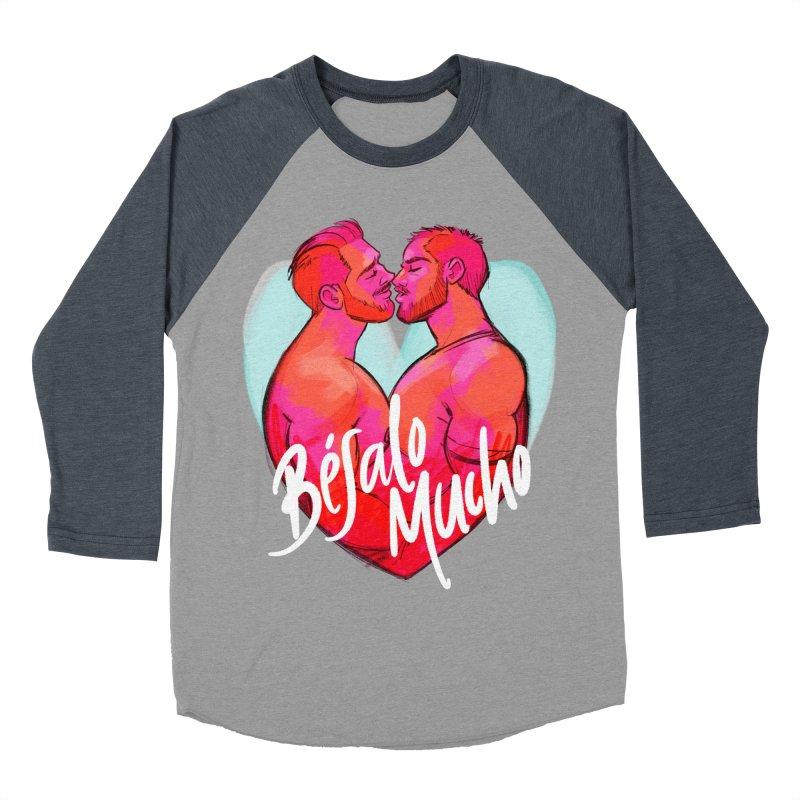 Besalo Mucho Men's Baseball Triblend Longsleeve T-Shirt by Roagui's Artist Shop