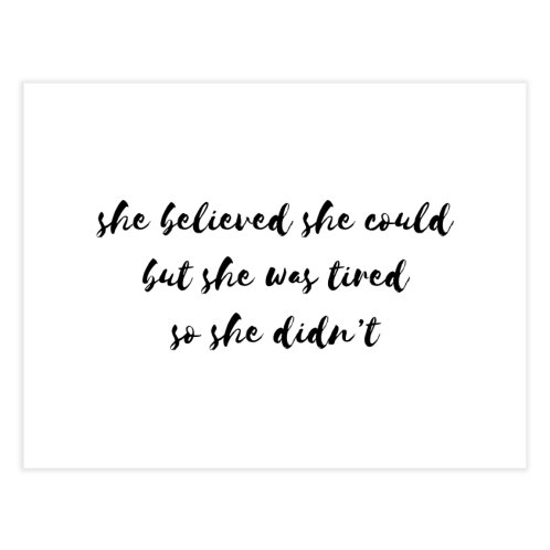 image for She believe she could