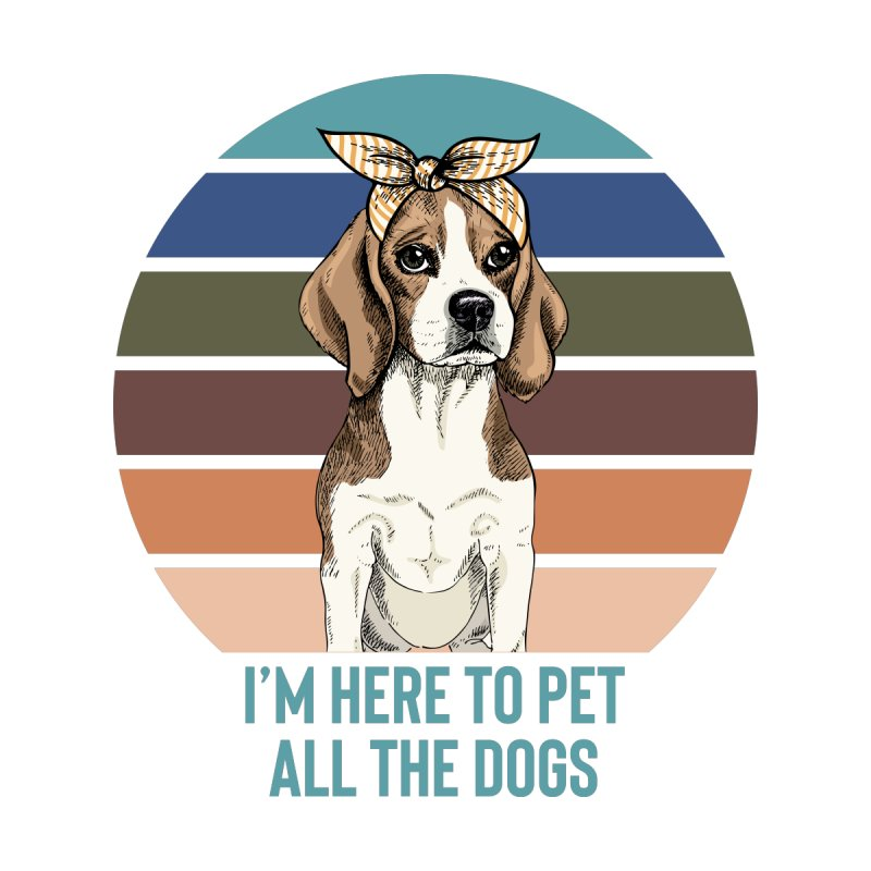 I'm here to pet all the dogs Accessories Sticker by Roam & Roots Shop
