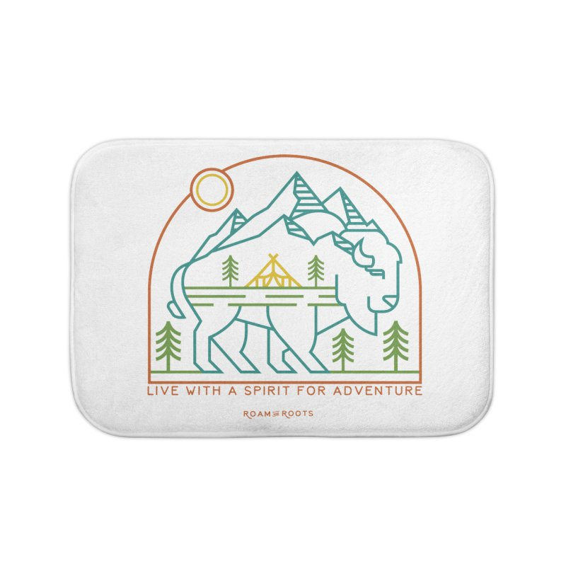 Live with a spirit for adventure Home Bath Mat by Roam & Roots Shop