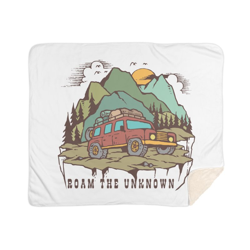 Roam the Unknown Home Blanket by Roam & Roots Shop