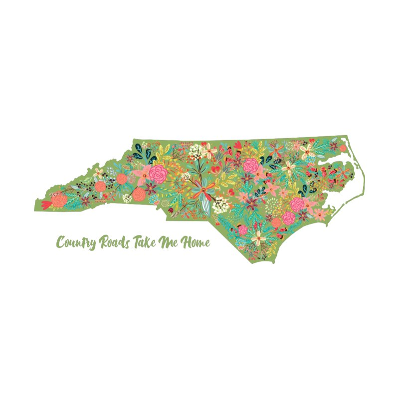 Country Roads - NC Accessories Water Bottle by Roam & Roots Shop