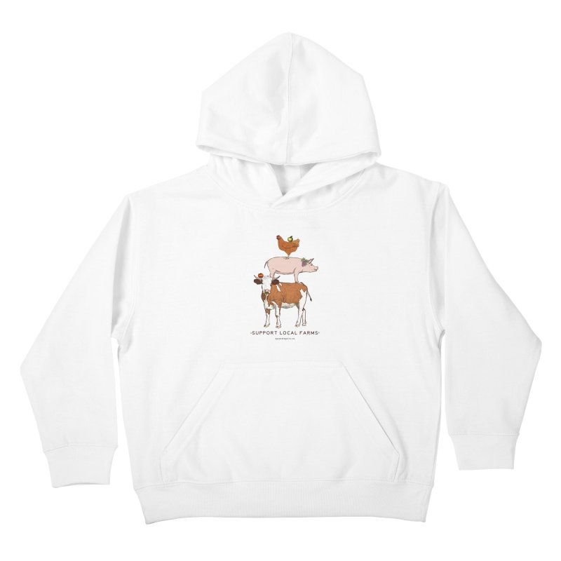 Support Local Farms Kids Pullover Hoody by Roam & Roots Shop