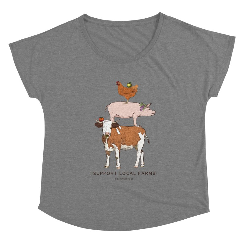 Support Local Farms Women's Scoop Neck by Roam & Roots Shop