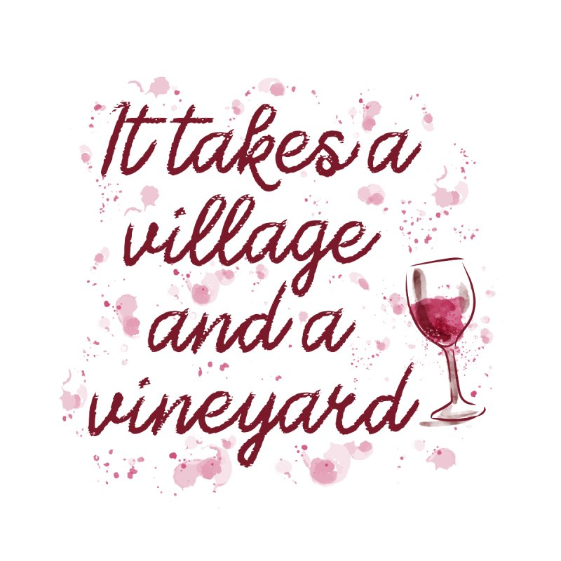 It takes a village and a vineyard Home Tapestry by Roam & Roots Shop