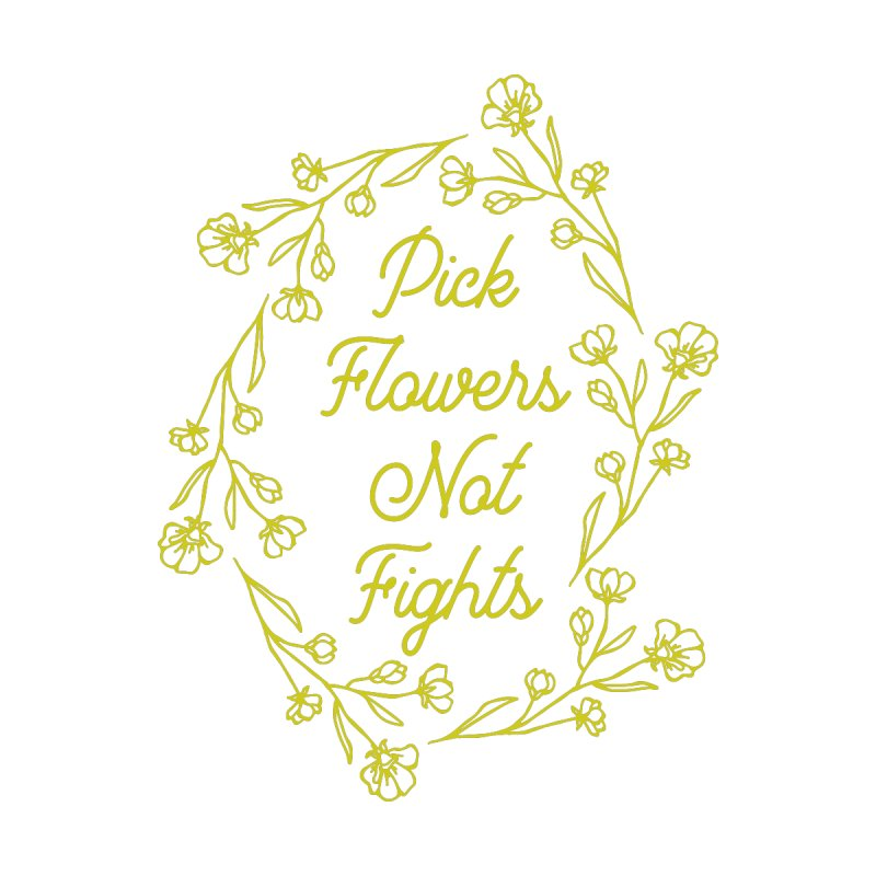 Pick Flowers Not Fights Accessories Bag by Roam & Roots Shop