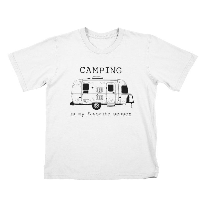 Camping is my favorite season Kids T-Shirt by Roam & Roots Shop