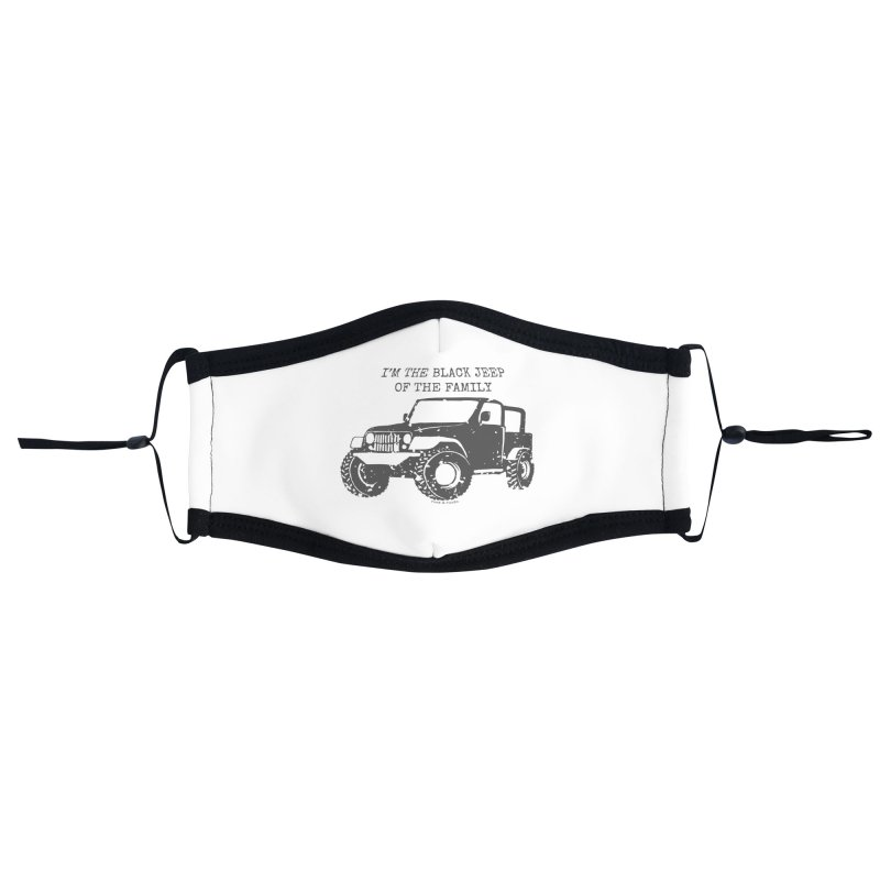 Black Jeep of the Family Accessories Face Mask by Roam & Roots Shop