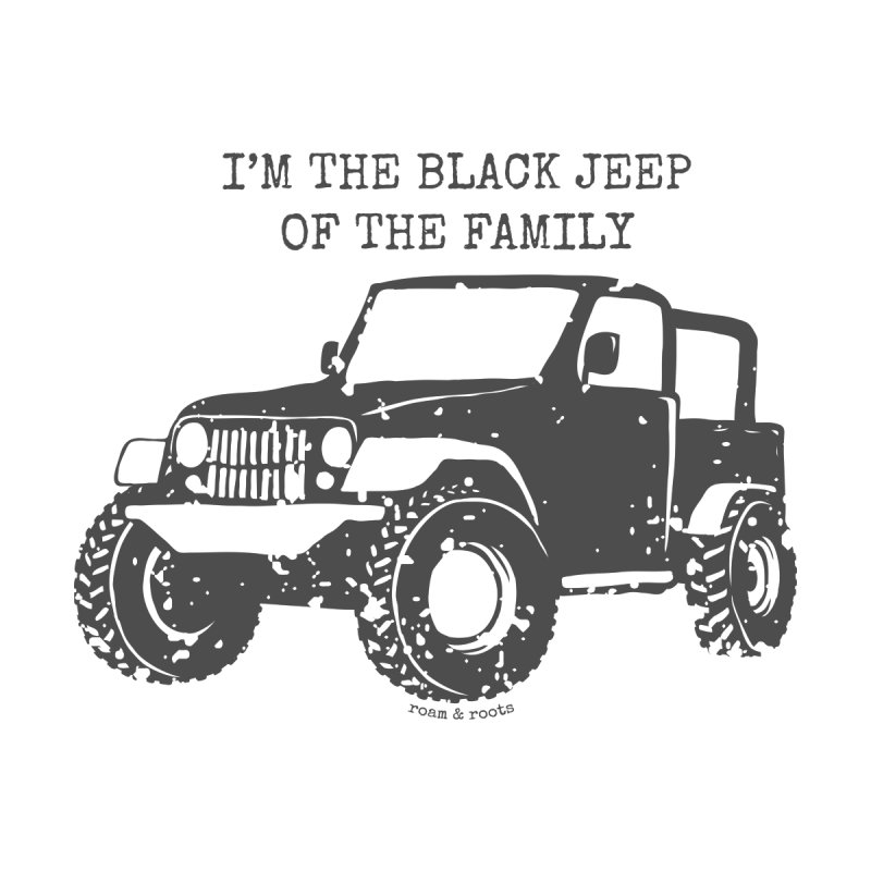 Black Jeep of the Family Accessories Bag by Roam & Roots Shop