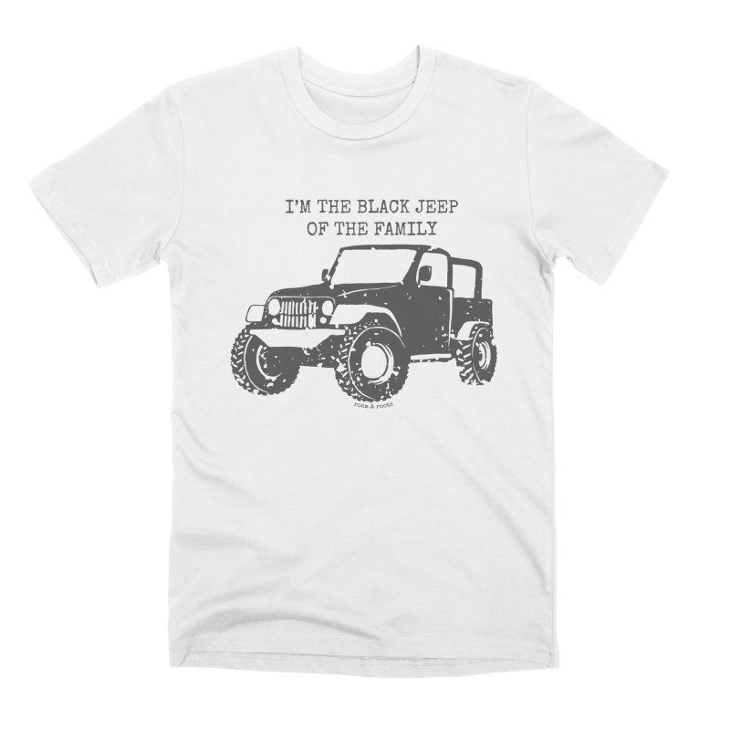 Black Jeep of the Family Men's T-Shirt by Roam & Roots Shop