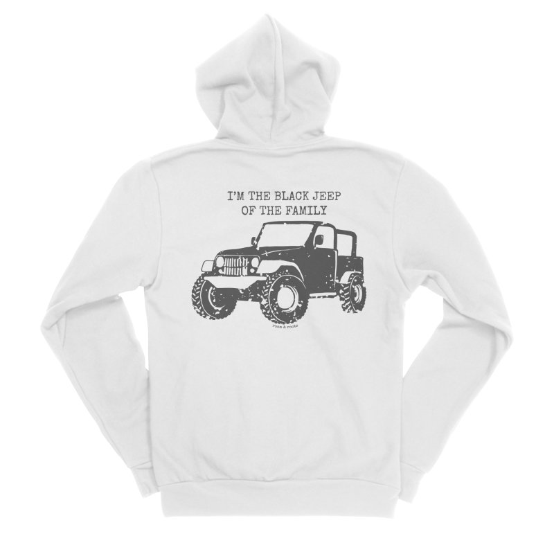 Black Jeep of the Family Men's Zip-Up Hoody by Roam & Roots Shop
