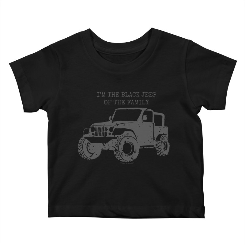 Black Jeep of the Family Kids Baby T-Shirt by Roam & Roots Shop
