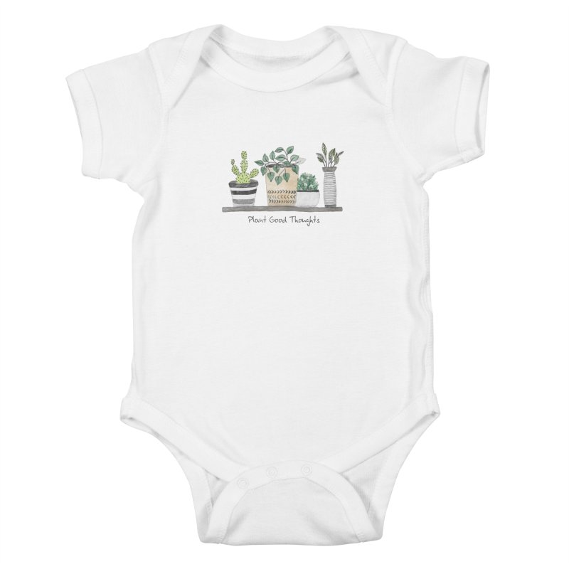 Plant Good Thoughts Kids Baby Bodysuit by Roam & Roots Shop
