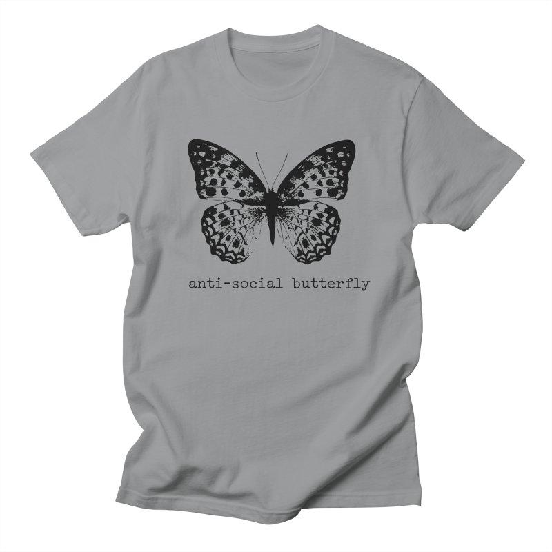 Anti-social Butterfly Design Men's T-Shirt by Roam & Roots Shop