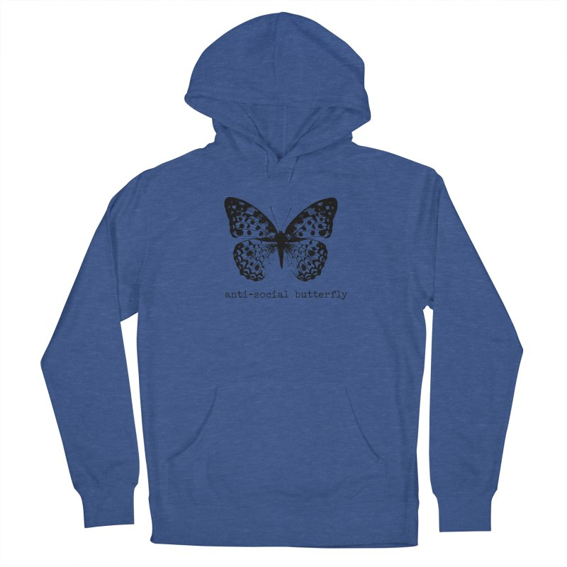 Anti-social Butterfly Design Men's Pullover Hoody by Roam & Roots Shop