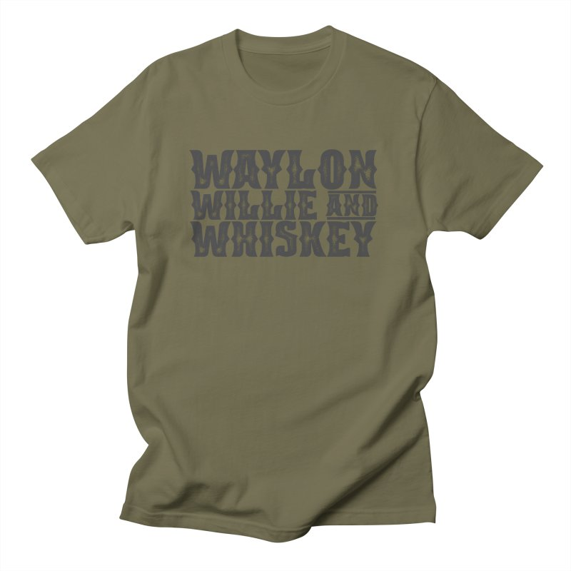 Waylon Willie and Whiskey Men's T-Shirt by Roam & Roots Shop