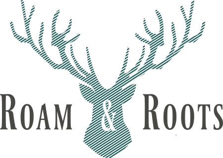 Logo for Roam & Roots Shop