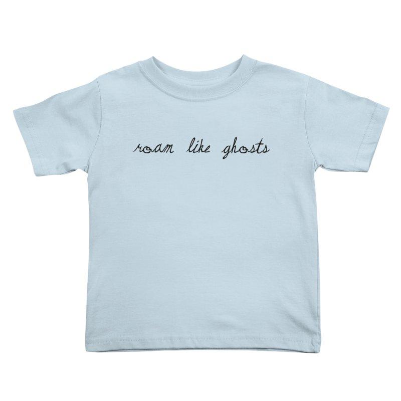 RLG Logo 2021 TTPYCH BLK Kids Toddler T-Shirt by Roam Like Ghost's Merch Shop