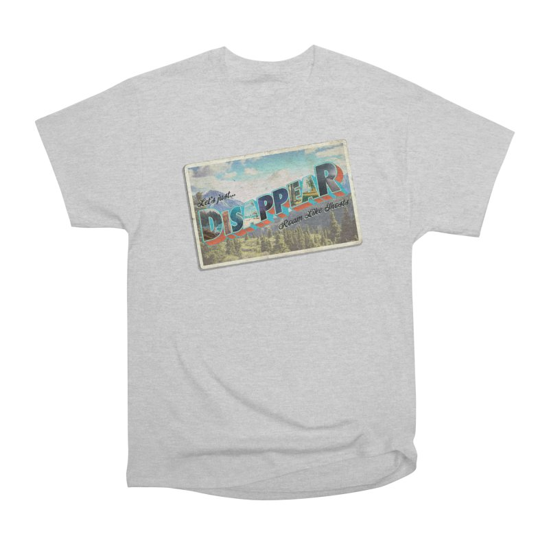 RLG-Disappear Postcard Design Men's T-Shirt by Roam Like Ghost's Merch Shop