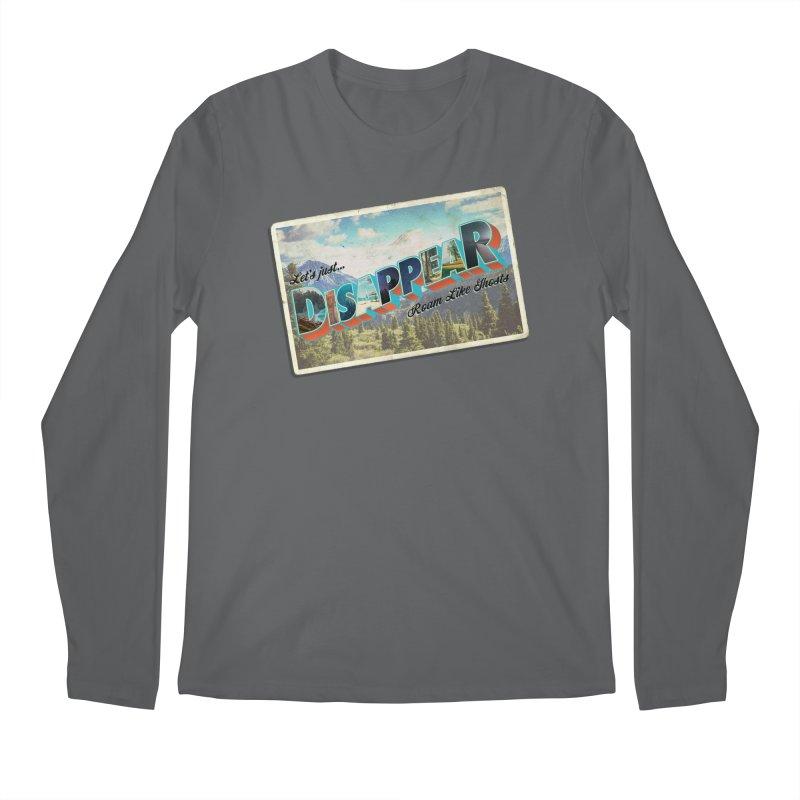 RLG-Disappear Postcard Design Men's Longsleeve T-Shirt by Roam Like Ghost's Merch Shop