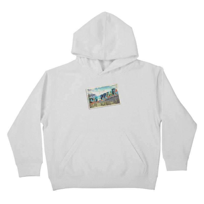 RLG-Disappear Postcard Design Kids Pullover Hoody by Roam Like Ghost's Merch Shop