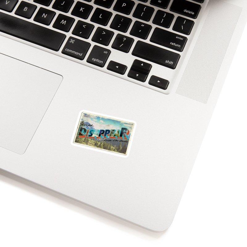 RLG-Disappear Postcard Design Accessories Sticker by Roam Like Ghost's Merch Shop