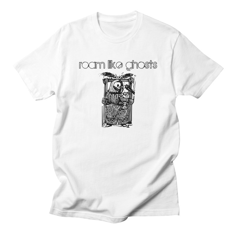 Roam Like Ghosts - Death and Ravens in Men's Regular T-Shirt White by Roam Like Ghost's Merch Shop