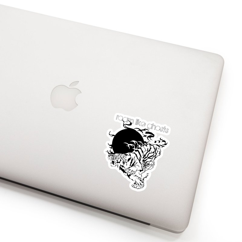 Roam Like Ghosts - Ghost Tiger Accessories Sticker by Roam Like Ghost's Merch Shop