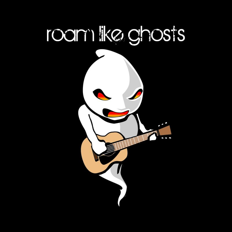 Ghost Guitar for Black Apparel Men's T-Shirt by Roam Like Ghost's Merch Shop
