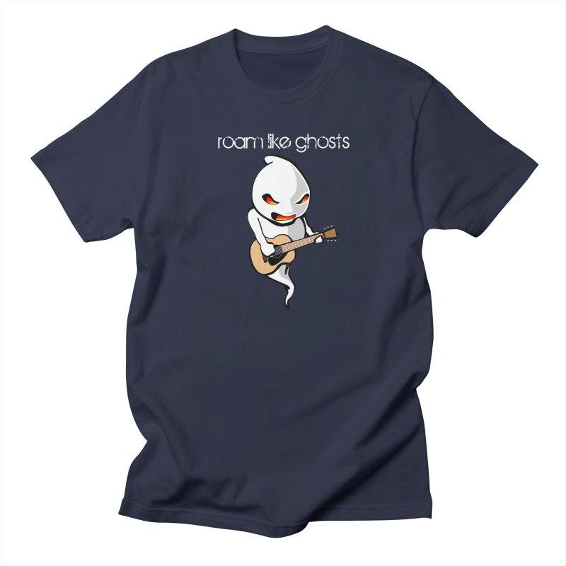 Ghost Guitar for Dark Colored Apparel Men's Regular T-Shirt by Roam Like Ghost's Merch Shop
