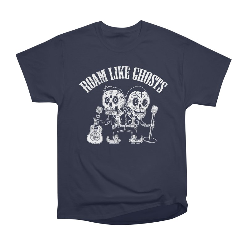 RLG-Amigos-BW-Darks in Men's Heavyweight T-Shirt Navy by Roam Like Ghost's Merch Shop