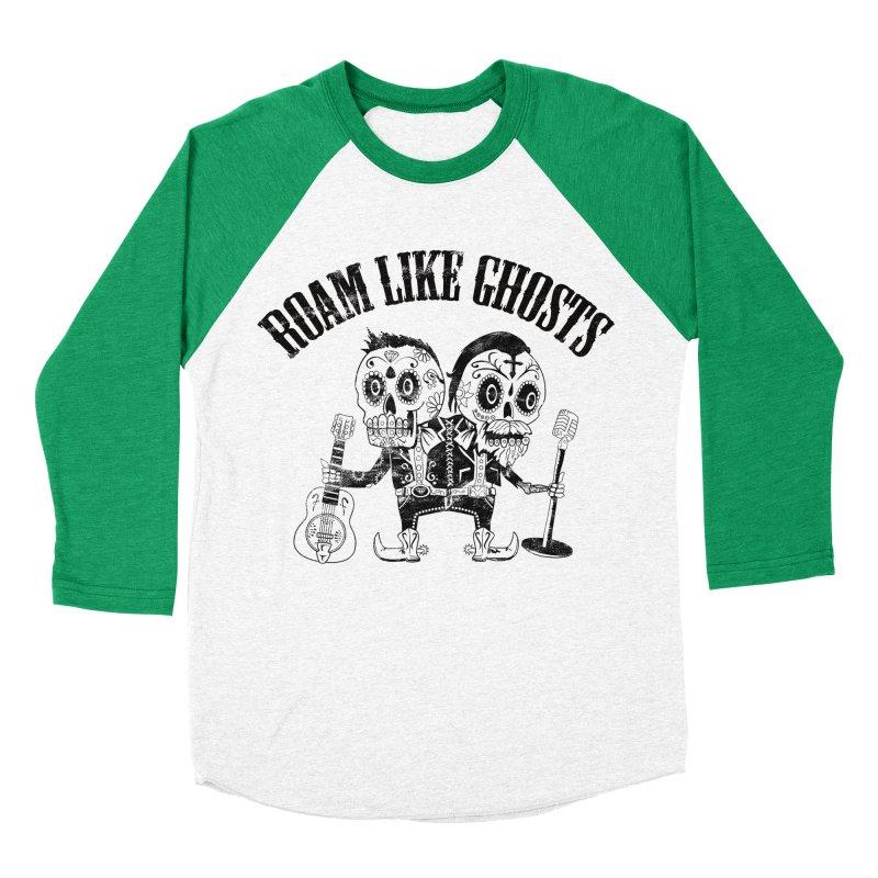 RLG-Amigos-Black Men's Baseball Triblend Longsleeve T-Shirt by Roam Like Ghost's Merch Shop